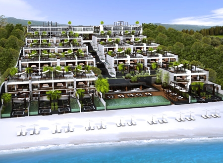 Freehold luxury beachfront condominium in phuket, thailand