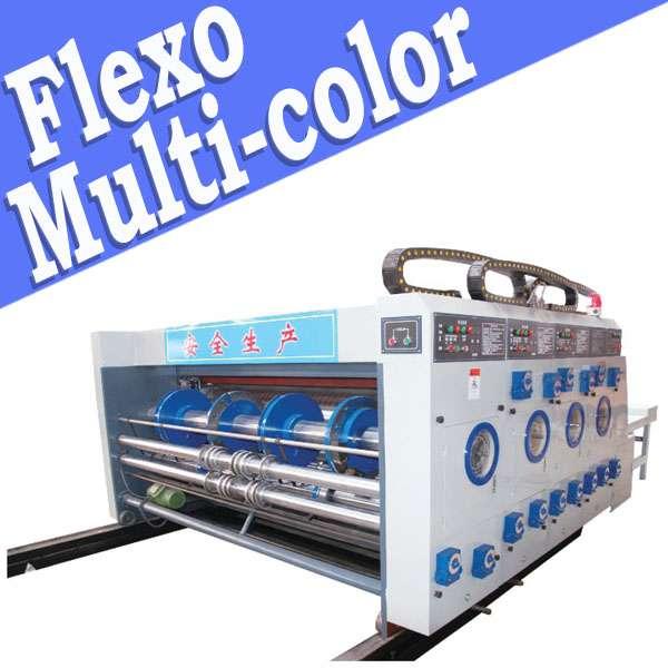 Corrugated cardboard printer slotter machinery, semi-automatic
