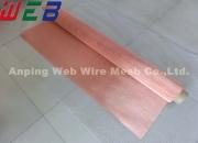 0.10mm Wire Dia. 80 mesh Copper Wire Mesh Fabric For EMI/RFI Shielding